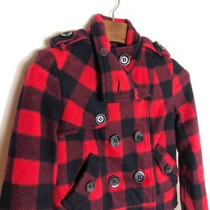 "FOREVER 21 PLAID ""WOOL"" COAT"